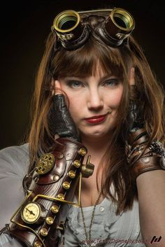gearsofpleasure: Sandra - Steampunk. Photo by Terry Donnelly. from http://ift.tt/1NG2EFN