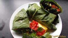 Raw Vegan Garden Salad and Coconut Chicken Roll | Rawmunchies.org  #RECIPE HERE: http://www.rawmunchies.org/recipes #Raw #vegan #rawvegan #glutenfree #lettucerolls #lettucewraps #veganchicken #veganmeat #veganwraps #saladwrap #Youtube  #Video #youtubevideo #youtuberecipe