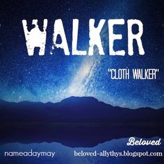 Name-A-Day May #4. Walker is a cool, trendy occupational name and a great subtle way to incorporate Star Wars into a baby name.
