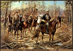 Jackson leads his Stonewall Brigade on the flank march at Chancellorsvile