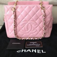 """Spotted while shopping on Poshmark: """"Authentic Chanel Pink Caviar Petite Shopper Tote""""! #poshmark #fashion #shopping #style #CHANEL #Handbags"""