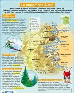 GEO : Le massif des Alpes Ap French, French Food, French Class, Learn French, France Geography, France Montagne, French Teacher, Teaching French, Voyage En France