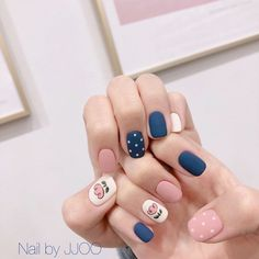 On average, the finger nails grow from 3 to millimeters per month. If it is difficult to change their growth rate, however, it is possible to cheat on their appearance and length through false nails. Korean Nail Art, Korean Nails, Short Nail Designs, Nail Art Designs, Nails Design, Trendy Nails, Cute Nails, Hair And Nails, My Nails