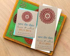 Boho Save the Date Cards #Boho #bohowedding #weddinginvitation #BeaconLane