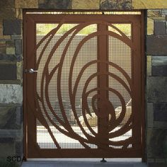 Modern Exterior Metal Doors metal gate contemporary modern pedestrian walk thru entry garden