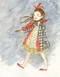 Eloise Takes the Weather 8.5 x 11 print by TheVoyagers on Etsy, $25.00