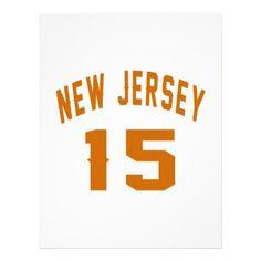 #New Jersey  15 Birthday Designs Letterhead - #birthday #gift #present #giftidea #idea #gifts