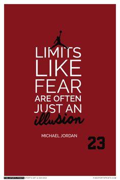 """Michael Jordan Quote on Print. See more at www.finesportsprints.com #jordan #sportsquote #chicagobulls"""