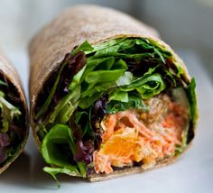 Smoky Tempeh Wrap - with Citrus Carrot Slaw