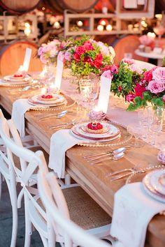 Wedding Tablescape - California Weddings At: http://www.FresnoWeddings.Net/