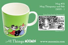Moomin mug Thingumy and Bob by Arabia - Moomin Moomin Mugs, Moomin Valley, Tove Jansson, Bob, Tableware, Trays, Cups, Songs, History