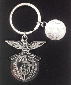 S L BENFICA Official Licensed Logo Symbol & Ball Keyring Key Ring Chain | eBay