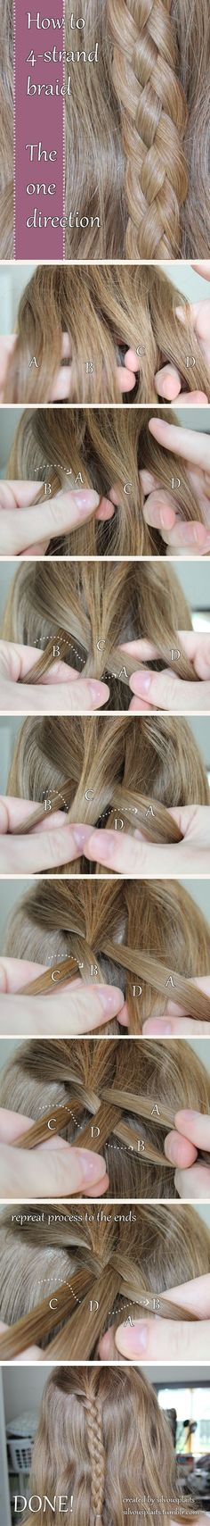 How to do a 4-strand braid