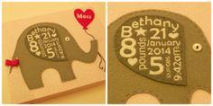 Elephant Baby Balloon Canvas - The Supermums Craft Fair
