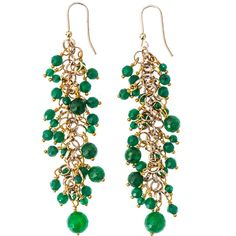 Rosantica Grappolo jade earrings ($205) found on Polyvore
