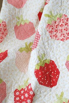 Strawberry Patch...U Pick 'Em ...The Pattern Basket: Strawberry Social #spiceberrycottage