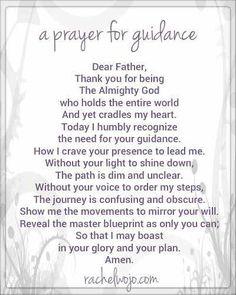 Prayers for Guidance