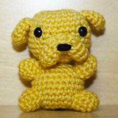 """Pupazzetto portachiavi amigurumi uncinetto """"Jake the dog"""" Adventure Time"""