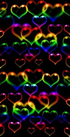 Luminous Colours, Wallpaper Backgrounds, Wallpapers, Lg Phone, True Colors, Hearts, Printables, Colorful, Awesome