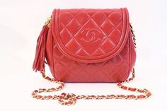 953125829f10bc Vintage Chanel red flap bag at Rice and Beans Vintage Vintage Chanel Bag,  Red Bags