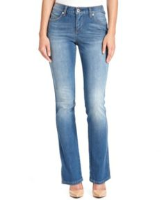 Levi's Jeans, Flatters & Flaunts Skinny-Leg Mid-Rise, Distant Blue Wash $44.99 #coupay #Women's #fashion
