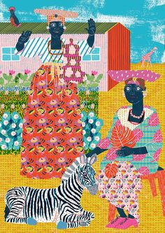 Image of *Limited Edition* Herero Women Print by Camilla Perkins