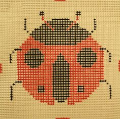 Star Needle # QP48, Ladybug, 6 mesh, 10 x 10