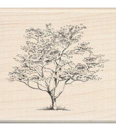 Inkadinkado Small Dogwood Wood Mounted Stamp