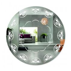Nalepovacie zrkadlo s ornamentmi Plates, Mirror, Tableware, Furniture, Home Decor, Licence Plates, Dishes, Dinnerware, Decoration Home