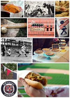 Vintage Baseball Party Inspiration Collage