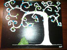 black night button tree