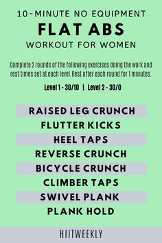 Get flat abs in under 10 minutes with our quick home abs workout plan for women without equipment. No equipment abs workout plans.
