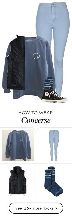 """Similar to what I will wear to the retreat tmrw."" by sydneymellark on Polyvore featuring Topshop, Patagonia, L.L.Bean, Converse, women's clothing, women, female, woman, misses and juniors"