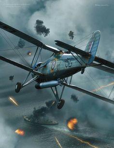 Navy Aircraft, Ww2 Aircraft, Military Aircraft, Military Art, Military History, Bismarck Battleship, Fairey Swordfish, Navy Wallpaper, War Thunder