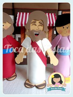 Biblical Characters in Vbs Crafts, Church Crafts, Bible Crafts, Crafts For Kids, Sunday School Projects, Sunday School Kids, Ideas Decoracion Navidad, Catholic Religious Education, Christian Crafts