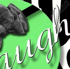 Lime Green Zebra Print LIVE LOVE LAUGH Quote Art Teen Room Wall Decor 5x7 DORM