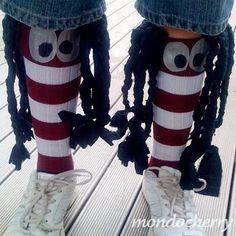 Silly SOCK DAY TOMORROW ....& I so love these socks...way too funny :)