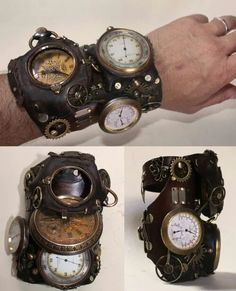 More (Steampunk Gadgets Hip Hop) Design Steampunk, Style Steampunk, Steampunk Watch, Steampunk Gears, Steampunk Wedding, Victorian Steampunk, Steampunk Clothing, Victorian Corset, Steampunk Fashion Men