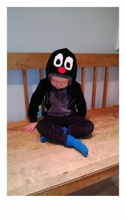.Mole (Krtek) hoodie for little boy / Myyrä-huppari pienelle pojalle
