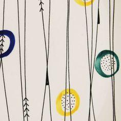 'Good Morning' by Inger Waage for Stavangerflint Textile Prints, Textile Design, Fabric Design, Shape Patterns, Print Patterns, 80s Design, Graphic Design, Ink Block, Surface Pattern Design