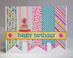 add a cute little animal for a child's card, tilt hat over the H, lots of different color combinations