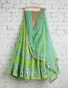 SwatiManish, the brand store in Mumbai for exclusive Sarees and Lehengas Designer Bridal Lehenga, Indian Bridal Lehenga, Bridal Dupatta, Indian Attire, Indian Ethnic Wear, Indian Wedding Outfits, Indian Outfits, Eid Outfits, Bridal Outfits