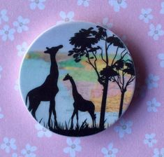 Any Giraffe lovers needing a needle minder? Check out this gorgeous one! by DaintyDotsDecoupage on Etsy Owl Sewing, Sewing Crafts, Sewing Kit, Embroidery Bags, Cross Stitch Embroidery, Embroidery Supplies, Nature Artists, Cross Stitch Supplies, Cross Stitch Needles
