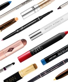 Travel Makeup Packing Tips - Eye, Lip, Concealer Pencil | Pro tips and product suggestions to switch to an all-pencil makeup bag. #refinery29 http://www.refinery29.com/packing-tips-makeup-pencils