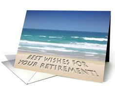 Tropical beach - retirement best wishes card (168465)