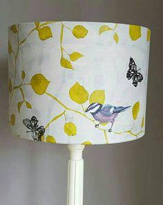 Beautiful lampshade original lampshade hand painted lamp