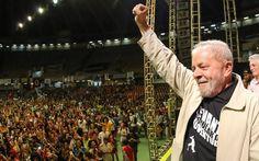 O ex-presidente durante visita ao acampamento do Levante Popular, em Belo…