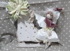 Stella di Natale con note musicali e fatina