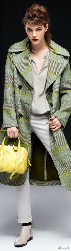 Emporio Armani Pre-Fall 2016 women fashion outfit clothing style apparel @roressclothes closet ideas