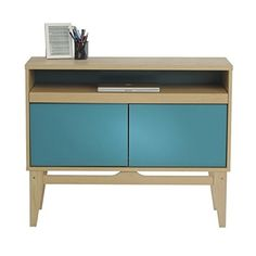 Sauder Soft Modern Console Desk Urban AshPeacock Blue -- You can get more details by clicking on the image.Note:It is affiliate link to Amazon.